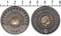 Изображение Монеты Гернси 5 фунтов 1999 Биметалл UNC- Елизавета II. Миллен