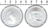 Изображение Монеты Австралия 1 доллар 2014 Серебро Proof Крокодил