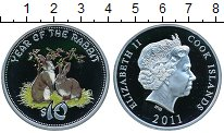 Изображение Монеты Острова Кука 10 долларов 2011 Серебро Proof- Елизавета II. Год кр