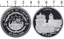 Изображение Монеты Либерия 20 долларов 2000 Серебро Proof Лиссабон