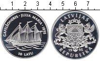 Изображение Монеты Латвия 10 лат 1995 Серебро Proof