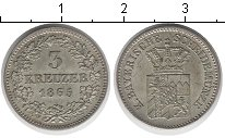 Изображение Монеты Бавария 3 крейцера 1965 Медно-никель XF
