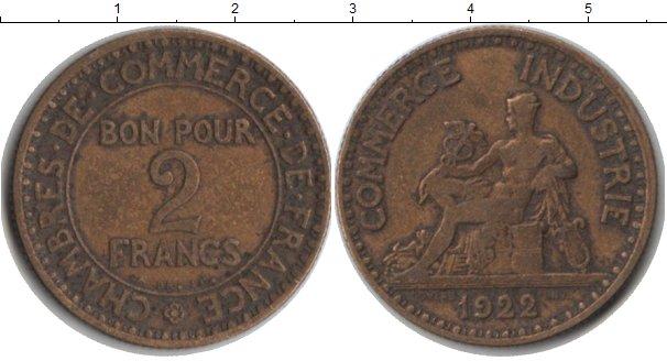 Картинка Монеты Франция 2 франка  1922