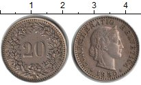 Изображение Монеты Швейцария 20 рапп 1950 Медно-никель XF