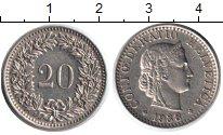 Изображение Монеты Швейцария 20 рапп 1938 Медно-никель XF