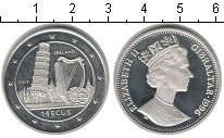 Изображение Монеты Гибралтар 14 экю 1996 Серебро Proof- Италия и Ирландия.
