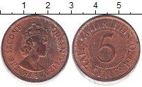 Изображение Монеты Маврикий 5 центов 1970 Медь XF Елизавета II