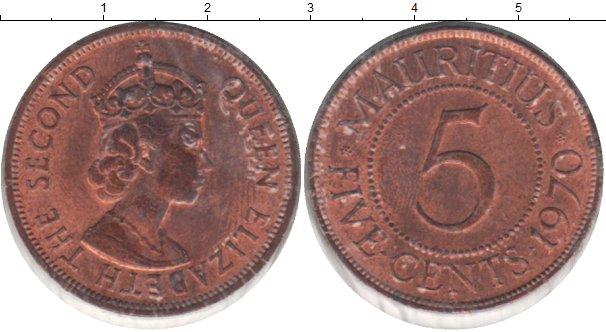 Картинка Монеты Маврикий 5 центов Медь 1970