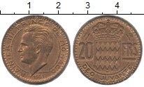 Изображение Монеты Монако 20 франков 1951 Медь XF