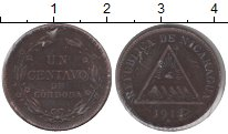 Изображение Монеты Никарагуа 1 сентаво 1912 Медь VF