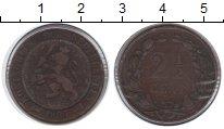 Изображение Монеты Нидерланды 2 1/2 цента 1884 Медь VF