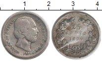 Изображение Монеты Нидерланды 25 центов 1890 Серебро VF