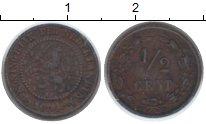 Изображение Монеты Нидерланды 1/2 цента 1894 Медь VF