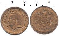 Изображение Монеты Монако 1 франк 1945  XF