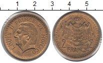 Изображение Монеты Монако 2 франка 1945  XF Луис II