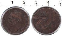 Изображение Монеты Италия 10 сентесим 1934 Медь VF Витторио Имануил III