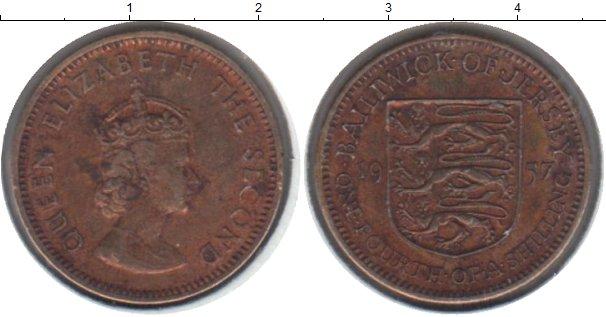 Картинка Монеты Остров Джерси 1/4 шиллинга Медь 1957