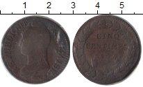 Изображение Монеты Франция 5 сантим 1797 Медь VF