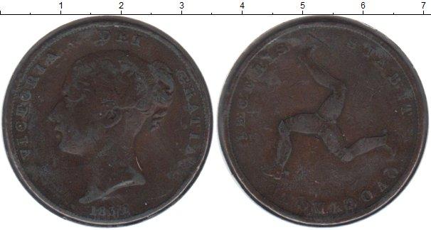 Картинка Монеты Остров Мэн 1 пенни Медь 1839