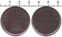 Изображение Монеты Норвегия 2 скиллинга 1833 Медь