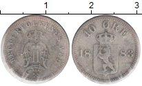 Изображение Монеты Норвегия 10 эре 1883 Серебро VF