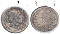 Изображение Монеты Нидерланды 10 центов 1882 Серебро VF Вильгельмина