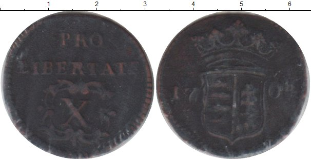 Картинка Монеты Венгрия 10 полтура Медь 1704