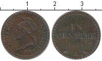 Изображение Монеты Франция 1 сантим 1851 Медь XF