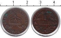 Изображение Монеты Немецкая Африка 1 геллер 1911 Медь XF J