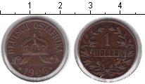 Изображение Монеты Немецкая Африка 1 геллер 1906 Медь VF J