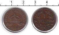 Изображение Монеты Немецкая Африка 1 геллер 1906 Медь XF А