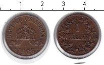Изображение Монеты Немецкая Африка 1 геллер 1908 Медь XF