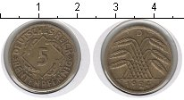 Изображение Монеты Веймарская республика 5 пфеннигов 1924 Медь XF