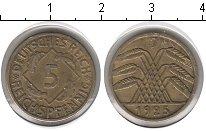 Изображение Монеты Веймарская республика 5 пфеннигов 1925 Медь XF