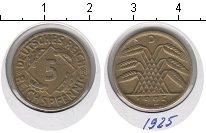 Изображение Монеты Веймарская республика 5 пфеннигов 1925 Медь XF D