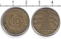 Изображение Монеты Веймарская республика 10 пфеннигов 1924 Медь XF J