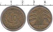 Изображение Монеты Веймарская республика 10 пфеннигов 1930 Медь XF D
