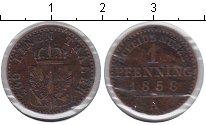 Изображение Монеты Пруссия 1 пфенниг 1858 Медь VF
