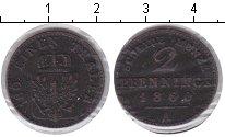 Изображение Монеты Пруссия 2 пфеннига 1860 Медь VF