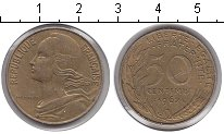 Изображение Монеты Франция 50 сантим 1962 Медь XF