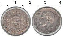Изображение Монеты Испания 50 сентим 1980 Серебро VF
