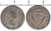 Изображение Монеты ЮАР 3 пенса 1956 Серебро VF Елизавета II