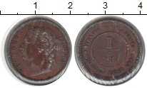 Изображение Монеты Стрейтс-Сеттльмент 1/4 цента 1899 Медь XF