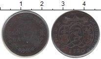 Изображение Монеты Швейцария 1/2 батзена 1820 Медь XF