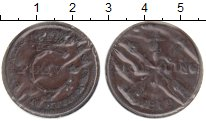 Изображение Монеты Швеция 1/4 скиллинга 1819 Медь XF