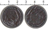 Изображение Монеты Испания 5 сентим 1877 Медь XF