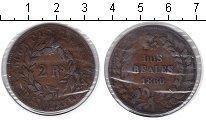 Изображение Монеты Аргентина 2 реала 1860 Медь
