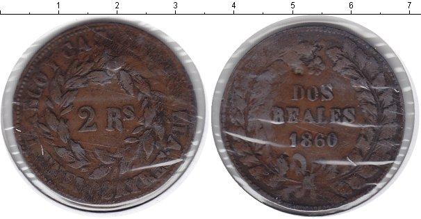 Картинка Монеты Аргентина 2 реала Медь 1860