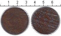 Изображение Монеты Аргентина 2 реала 1854 Медь