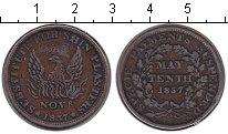 """Изображение Монеты США Токен 1837 Медь  Токен """"Тяжелого врем"""